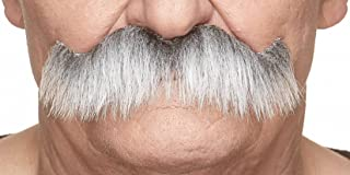 Fake Mustache, Self Adhesive, Novelty, Rocking Grandpa's False Facial Hair, Costume Accessory for Adults