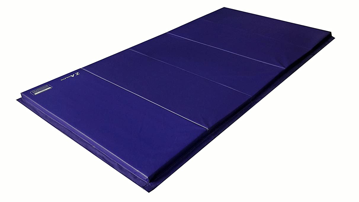 Z-Athletic Folding Panel Mats for Gymnastics, Martial Arts, Tumbling