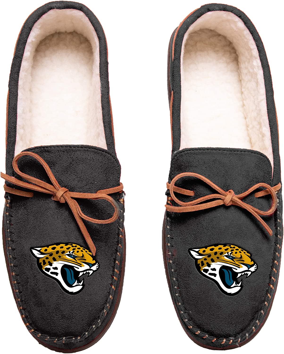 FOCO Football Mens Team color Big Logo Moccasin Slippers shoes - Pick Team