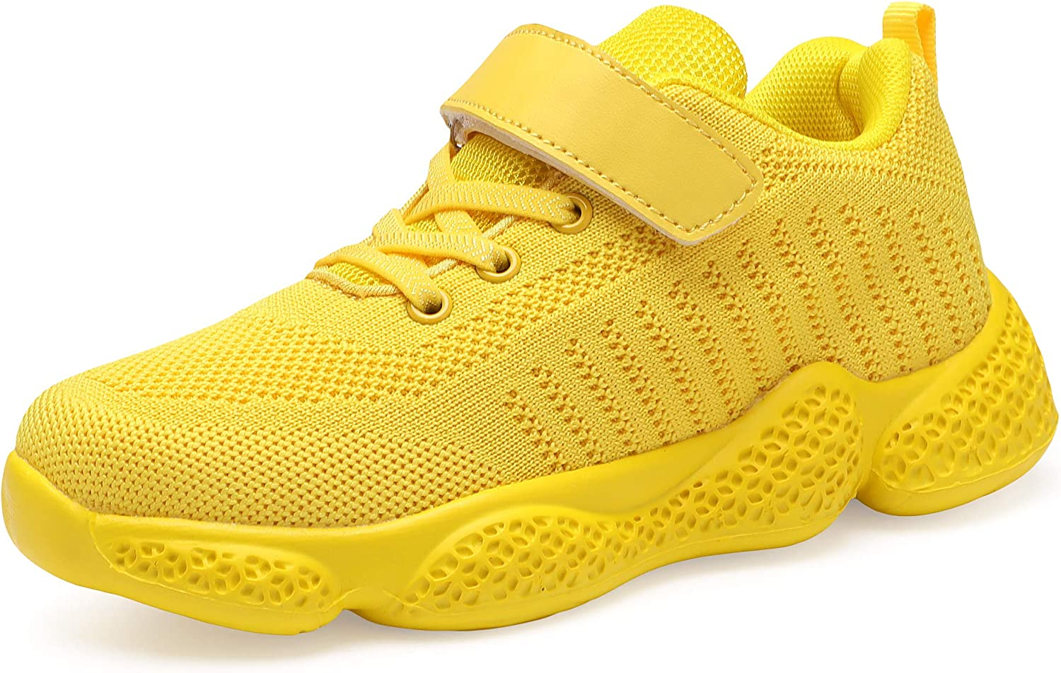 Casbeam Kids Breathable Sneakers Mesh Lightweight Easy Walk Casual Sport Strap Athletic Running Shoes for Boys Girls