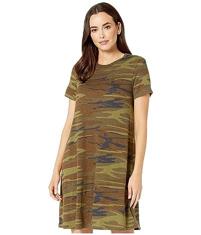 Alternative Eco-Jersey Printed Flare T-Shirt Dress (Camo) Women