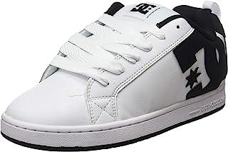 DC Shoes Court Graffik, Chaussure de Skate Homme, Blanc White Black Black, 52 EU
