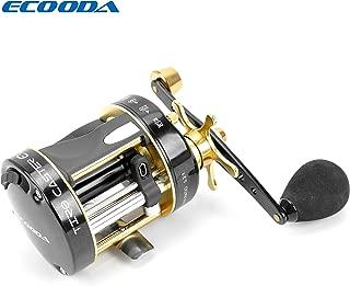 Ecooda TIRO Caster EX II Round Baitcasting Fishing Reel Carbon Fiber Drag System 5+1 Ball Bearings Gear Ratio 5.3:1 Left/Right Hand ETC2 40A/L&50A/L