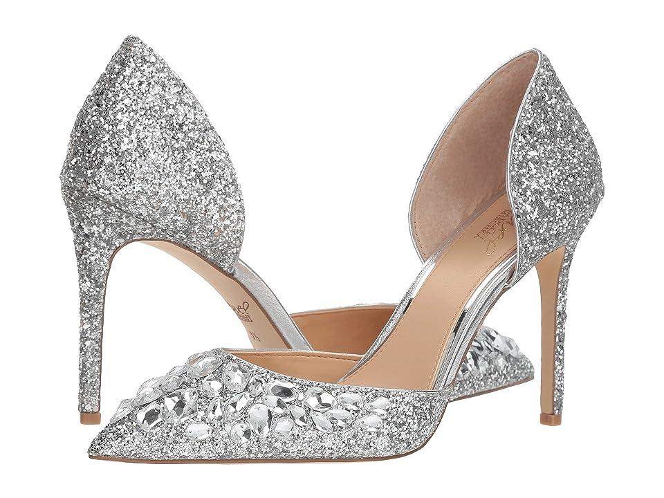 Jewel Badgley Mischka Upton (Silver Glitter) Women
