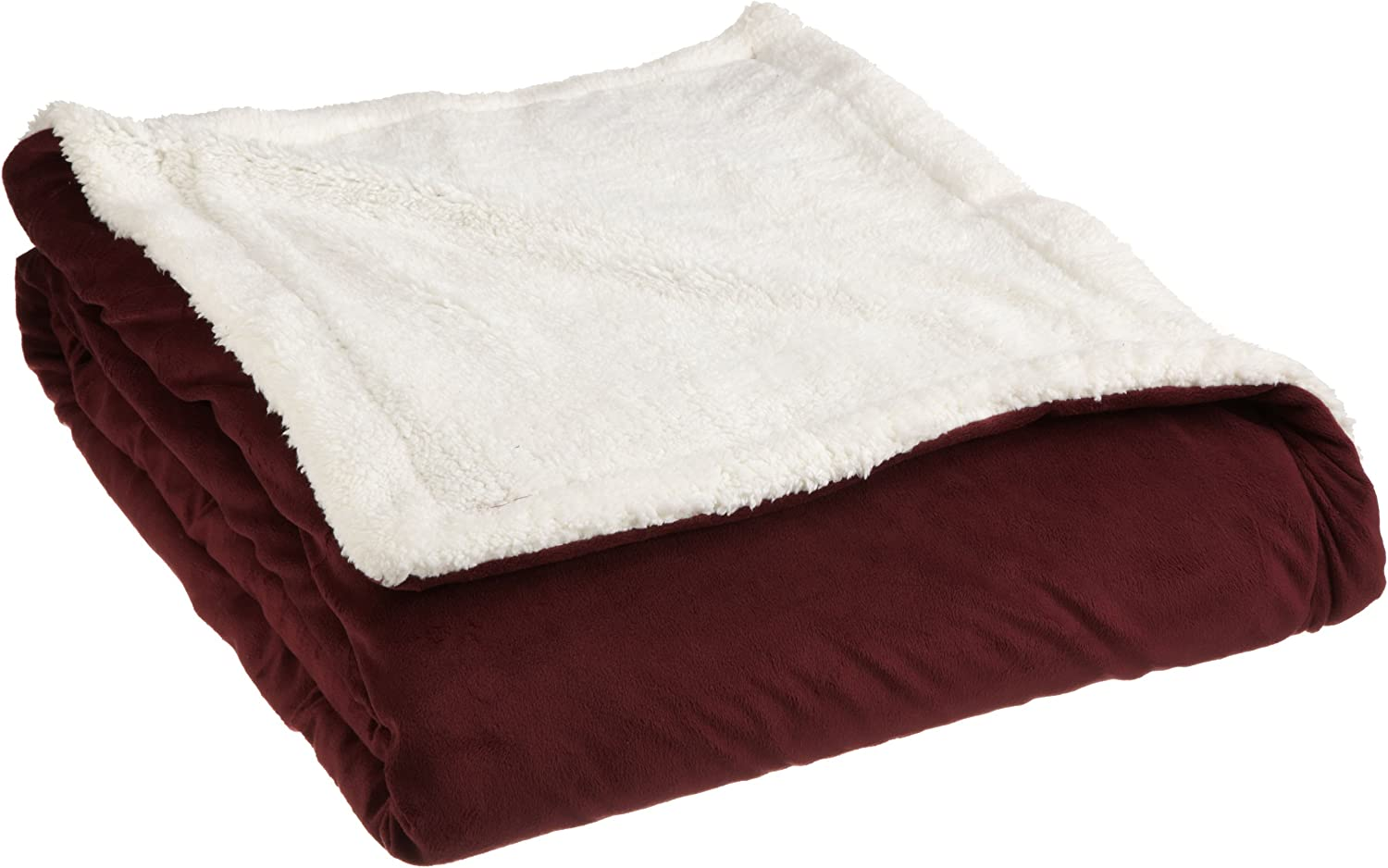 Dallas Mall Northpoint Sapphire Twin Burgundy Sherpa Fees free Blanket