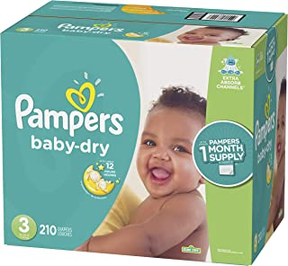 Diapers Size Size 3 (210 Count) - Pampers Baby Dry Disposable Baby Diapers, ONE MONTH SUPPLY