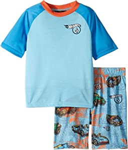 Hot Wheels(r) Collector Short Sleeve PJ Shorts Set (Toddler/Little Kids)