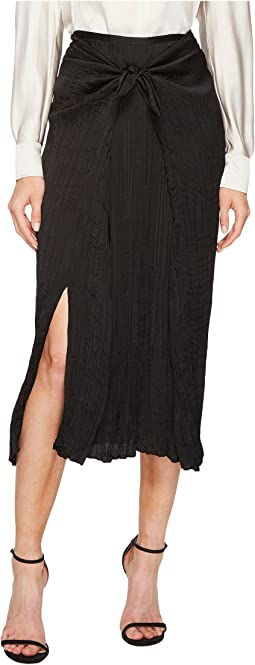 Vince - Pleated Tie Front Skirt