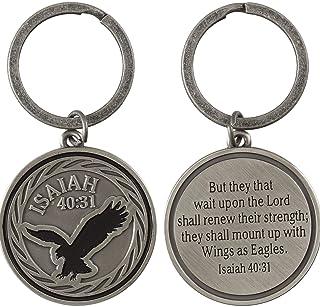 Dicksons Isaiah 40:31 Multi 2.5 Inch Zinc Alloy Keyring