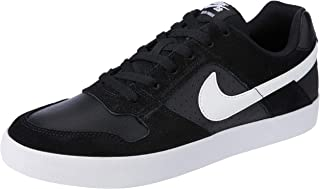 Nike Men's SB Delta Force Vulc Shoes, Black, White-Anthracite-White, 10 US
