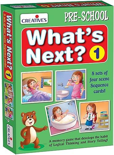 Creative Educational Aids P. Ltd. What's Next - 1 Card Games (Multi-Color, 32 Pieces) product image