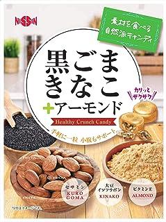 日進製菓 黒ごまきなこ+アーモンド 70g×12袋