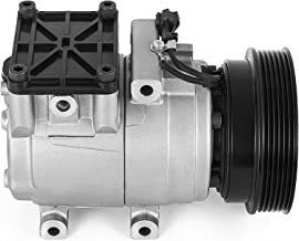 Mophorn 471-6004 977012C600 CO 10922C AC Compressor With 6 Groove Clutch HS15 for 03-08 Hyundai Tiburon 2.7L V6 97701-2C600 58199 57199