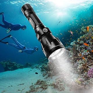 BlueFire 水中懐中電灯 Cree XM-L2 高輝度Ledダイビング ライト IPX8強力防水 100M水中ダイバーライト 18650電池対応 1200ルーメン 防災 防犯 地震対策 アウトドア