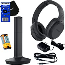 Sony MDRRF995RK Wireless RF (Radio Frequency) Headphone with Transmitter Base Station + Stereo Connecting Cable + AC adaptor + HeroFiber Ultra Gentle Cleaning Cloth