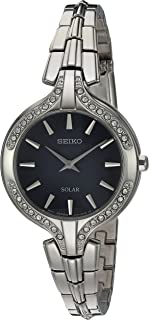 Seiko Women's Quartz Stainless Steel Casual Watch, Color:Silver-Toned (Model: SUP345)