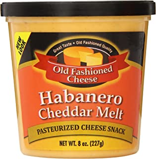 Old Fashioned Cheese Melt, Habanero Cheddar, 8 Ounce (Pack of 12)