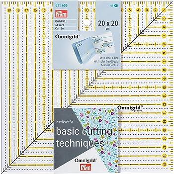 Prym Patchwork-Lineal Square 20 x 20 cm Omnigrid Regla: Amazon.es: Hogar