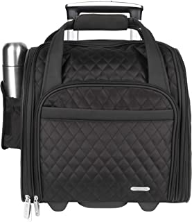 Wheeled Underseat Carry-On with Back-Up Bag, Black, One Size