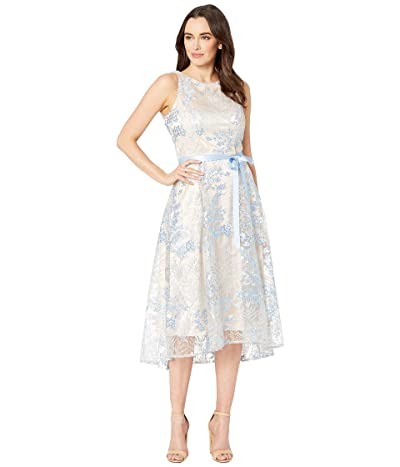 Tahari by ASL Sleeveless Embroidered High-Low Dress (Powder Blue) Women