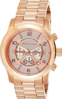 Michael Kors Mens Quartz Watch, Analog Display and Stainless Steel Strap MK8096