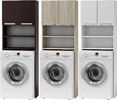BIM Furniture Paulina Armoire de salle de bain pour machine à laver 61 x 183 cm (chêne onome)