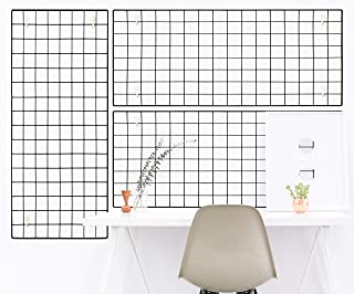 Blue Riser Multi-Function Painted Metal Wire Wall Grid for Photo Hanging, Wall Decoration Organizer, Wall Storage, Dorm Decor and Office Décor 15.75 x 31.50 (3 Pack)