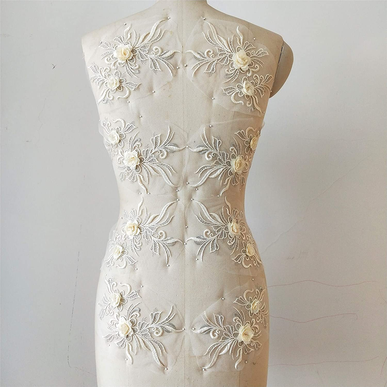 Beaded Flower Latest item Sequence lace Applique Sewing Super special price Motif Wedding Bridal