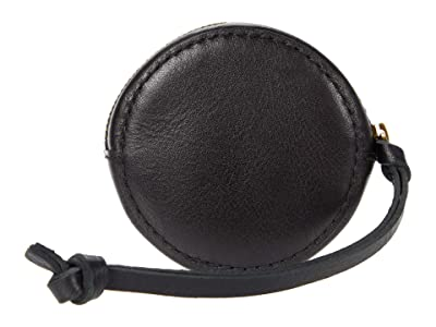 Madewell Small Circle Hanging Pouch: Leather Edition (True Black) Handbags