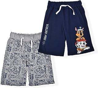 Nickelodeon Paw Patrol Boy's 2-Pack Casual Drawstring Short Set, Blue/Grey