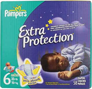 Pampers Extra Protection Diapers Size 6 Super Pack 58 Count