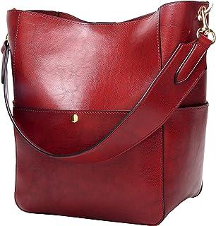32d4b57069 Molodo Women s Satchel Hobo Top Handle Tote Shoulder Purse Soft Leather  Crossbody Designer Handbag Big Capacity