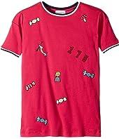 Short Sleeve Rykiel Motives Patch Dress (Big Kids)