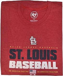 '47 Brand Men's Stacker Club Long Sleeve T-Shirt - MLB LS Tee Shirt