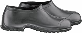 """ONGUARD 86010 Heavy Flex-O-Thane/PVC Men's Overshoe with 4-Way Cleated Outsole, 4"""" Height, Black, Size Small"""