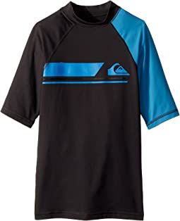 Quiksilver Kids Active Short Sleeve Rashguard (Big Kids)