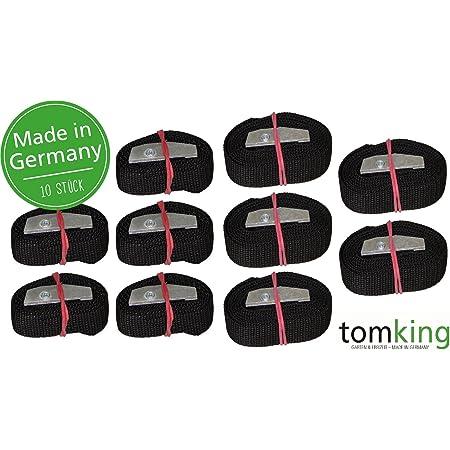 10 X Befestigungsriemen Set 5x0 5m 5x1m 25 Mm 250 Kg Made In Germany Spanngurte Zurrgurte Schnallgurte Klemmschloss Auto