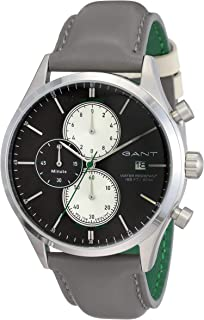 Gant Vermont Men's White & Black Dial Leather Band Watch - G Gww70410, Analog Display