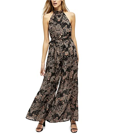 Free People Kissing Sunlight Jumpsuit (Black Combo) Women