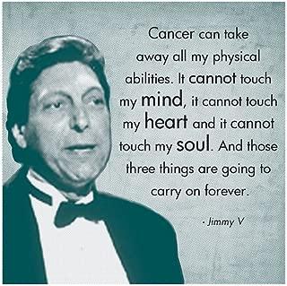 Those Three Things, Jimmy V Art Print, 14 x 14 inches