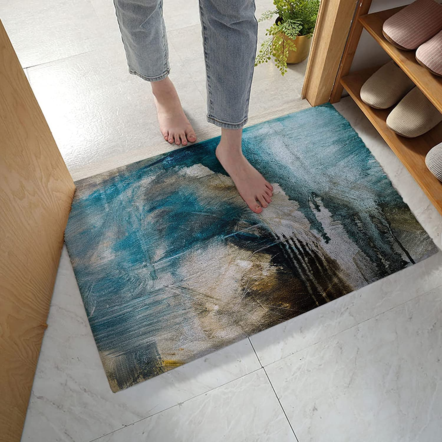 Free shipping on posting reviews MuswannaA Bathroom Rug Bath Mat Color Art Text Abstract trust Painting