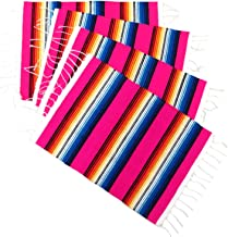 Leos Imports Mexican Sarape Serape Place Mat (Set of 4) (Hot Pink)