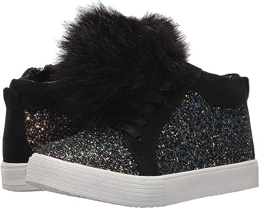 Black Multi Chunky Glitter