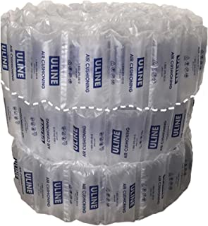 Uline 8X4UL-100 Industrial Air Pillows (100 Count) Pre-Filled by Blubonic Industries, 8 x 4 in (7 x 4 inflated), 13 gal, 2 cu ft, Shipping Packing Package Cushioning Air Bags