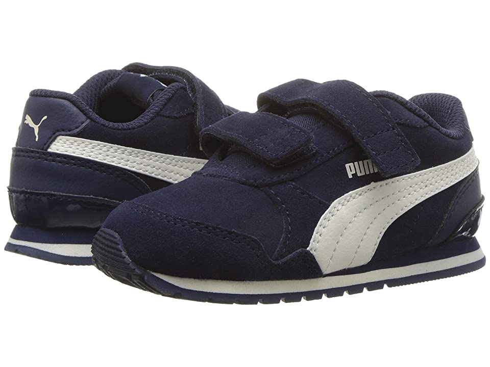 Puma Kids ST Runner v2 SD V (Toddler) (Peacoat/Whisper White) Boy