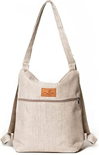Canvas Rucksack Tasche 2 in 1 , Canvas Tasche Damen, Rucksack Tasche 2 in 1 Damen, Rucksacktasche Damen, Rucksack Handtasc...