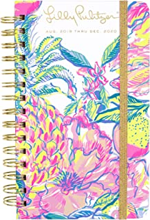 "$24 » Lilly Pulitzer Medium 17 Month Hardcover Agenda, 8.25"" x 5"" Personal Planner with Monthly and Weekly Spreads for Aug. 2019 - Dec. 2020, Fiesta Bamba"