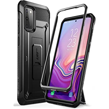 SUPCASE UB Pro Series Designed for Samsung Galaxy S20 / S20 5G Case (2020 Release), Full-Body Dual Layer Rugged Holster & Kickstand Case Without Built-in Screen Protector(Black)