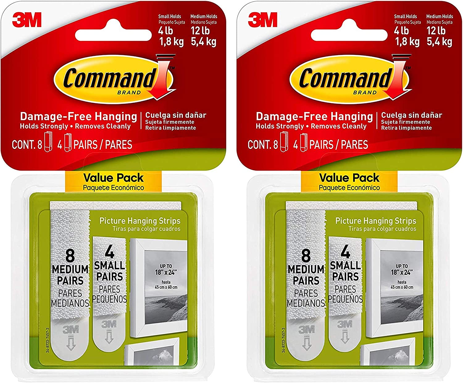 Command Small Medium Picture Hanging Limited time trial price Indoor Strips Use 17203 El Paso Mall