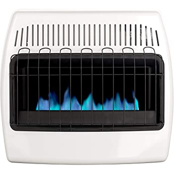 Dyna-Glo 30,000 BTU Natural Gas Blue Flame Vent Free Wall Heater, White